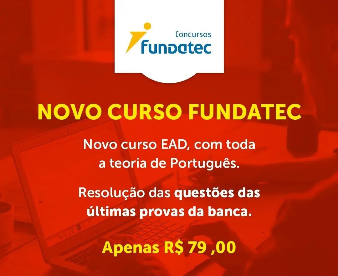 Curso para NOVO PORTUGUÊS PARA A FUNDATEC