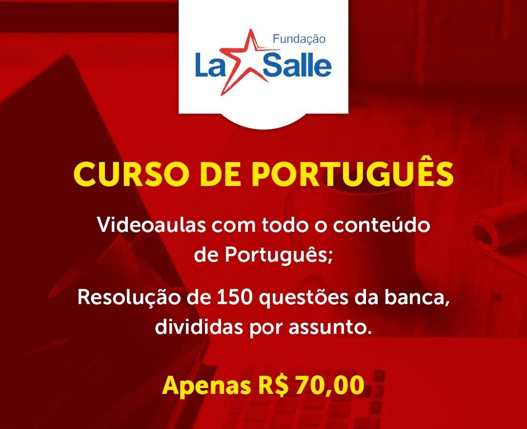 Curso para CURSO DE PORTUGUÊS LA SALLE